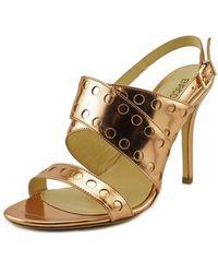 Enrico Lugani - Lana100 Open Toe Leather Platform Heel - Lyst