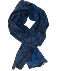 Dibi - Blue & Black Ziggy Scarf - Lyst