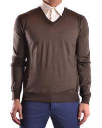 CoSTUME NATIONAL - Men's Mcbi074034o Brown Cotton Jumper - Lyst