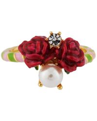 Les Nereides - Balad In Versailles Roses And Pearl Ring - Lyst