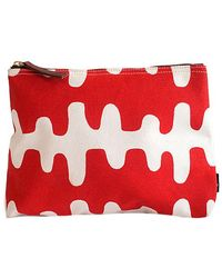 Maika - Echo Tangerine Print Zipper Pouch, Medium - Lyst