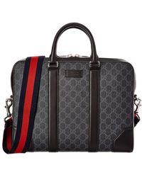 Gucci - Gg Supreme Canvas Briefcase - Lyst