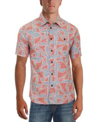 Quiksilver - Mens Printed Casual Button-down Shirt - Lyst