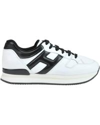 Hogan - Women's White Leather Sneakers - Lyst