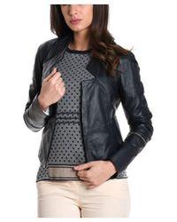 Manila Grace - Women's Black Leather Outerwear Jacket - Lyst