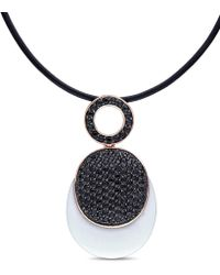 Catherine Malandrino - Synthetic White Agate And Black Cubic Zirconia - Lyst