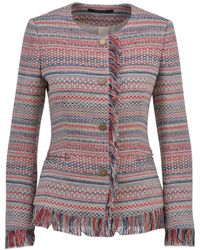 Tagliatore - Women's Multicolour Cotton Cardigan - Lyst