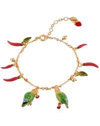 Les Nereides - Love Birds And Heart Semi-pearly Bracelet - Lyst