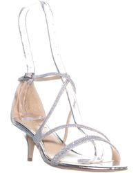 Badgley Mischka - Jewel By Gal Ankle Strap Sandals, Silver Glitter - Lyst
