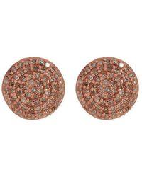 Adornia - Rose Gold Vermeil And White Diamond Imogen Earrings - Lyst