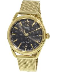 Citizen - Women's Eco-drive Fe6082-59e Gold Stainless-steel Japanese Quartz Fashion Watch - Lyst