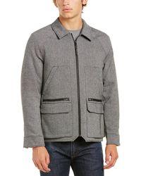 Victorinox - Swiss Army Full Zip Wool-blend Shirt Jacket - Lyst