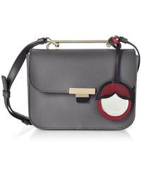 Furla - Women's Grey Leather Shoulder Bag - Lyst