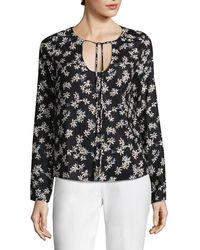 Lucca Couture - Natalie Self-tie Floral Top - Lyst