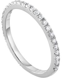 Diana M. Jewels - 18k White Gold Diamond Ring With 0.30 Carat Of Total Diamond Weight - Lyst
