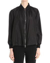 Valentino - Women's Black Polyamide Outerwear Jacket - Lyst