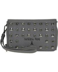 Patrizia Pepe - Women's Mcglbre000004090i Grey Leather Shoulder Bag - Lyst