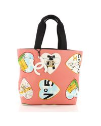 2bab3d87965c Chanel - Pre Owned Valentine Tote Printed Canvas Medium - Lyst