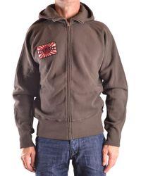 Evisu - Men's Brown Cotton Sweatshirt - Lyst