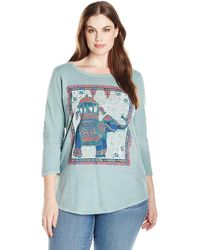 Lucky Brand - Plus Size Elephant Ride Tee - Lyst