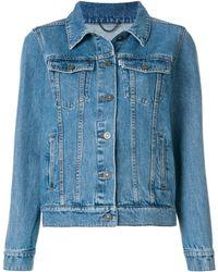 KENZO - Women's Blue Cotton Jacket - Lyst