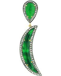 Socheec - Jade Moon Pendant Necklace - Lyst