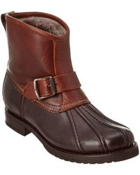 Frye - Women's Veronica Engineer Leather Duck Boot - Lyst