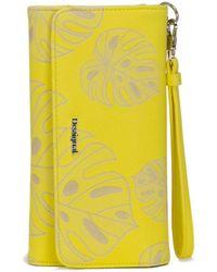 Desigual - Women's Yellow Polyurethane Wallet - Lyst