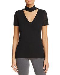 T Tahari - Womens Giandra Metallic Choker Sweater - Lyst