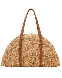 San Diego Hat Company - Women's Woven Straw Bag Bsb1358 - Lyst