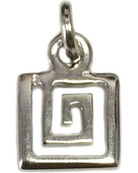 Jewelry Affairs - Sterling Silver Greek Spiral Key Pendant, 10mm - Lyst