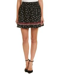 Ella Moss - Embroidered A-line Skirt - Lyst