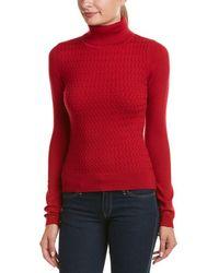 Karen Millen - Cable-knit Wool-blend Pullover - Lyst