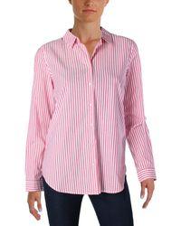 Scotch & Soda - Womens Striped Long Sleeves Button-down Top - Lyst