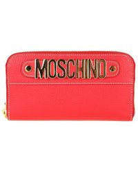 Moschino - Women's Red Leather Wallet - Lyst