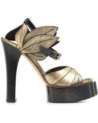 Vivienne Westwood - Women's Black/gold Leather Sandals - Lyst