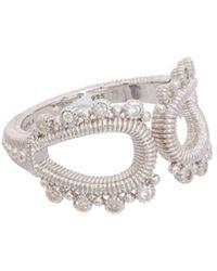 Judith Ripka - Silver 0.10 Ct. Tw. White Topaz Ring - Lyst