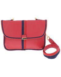 Circus by Sam Edelman - Womens Izzy Faux Leather Contrast Trim Crossbody Handbag - Lyst