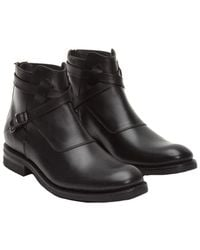 Frye - Men's Stone Cross Strap Leather Boot - Lyst