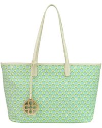 V73 - Women's Green Faux Leather Tote - Lyst