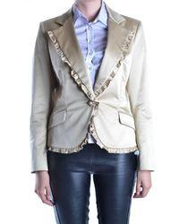 Iceberg   Women's Beige Cotton Blazer   Lyst