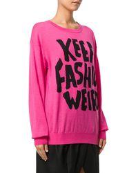 Jeremy Scott - Women's Pink Wool Sweater - Lyst