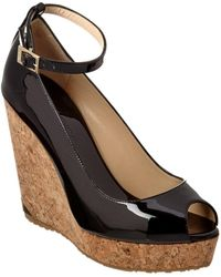 Jimmy Choo - Pacific 120 Patent Wedge - Lyst