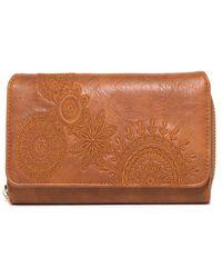 Desigual - Women's Brown Faux Leather Wallet - Lyst