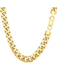 Jewelry Affairs - 14k Yellow Solid Gold Miami Cuban Link Chain Mens Bracelet, 6.2mm, 8.5 - Lyst