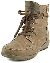Sporto - Womens Kona Faux Fur Almond Toe Ankle Cold Weather Boots - Lyst