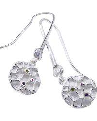 Jewelista - Sterling Silver Gemstone Drop Earrings - Lyst