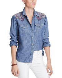 Denim & Supply Ralph Lauren - Cotton Chambray Shirt - Lyst