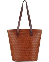 Most Wanted Usa - Braided Leather Tote - Lyst