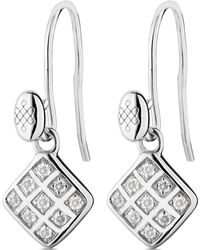 Charles & Colvard - Moissanite Diamond Shape Dangle Earrings 0.18cttw Dew - Lyst